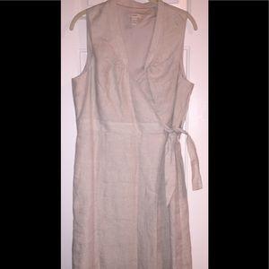 J. Crew linen dress - size 12 - tan/cream.